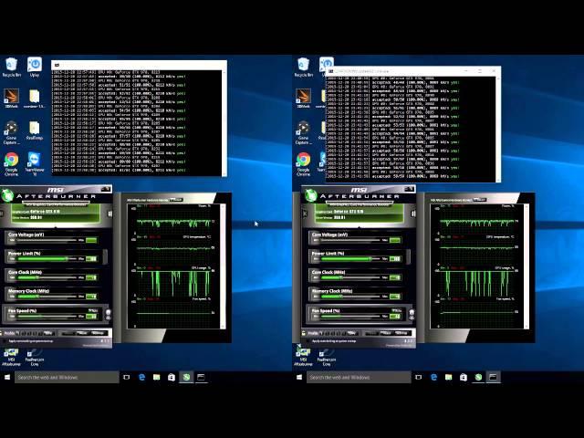 CCminer SP Mod 1 5 73 Vs 1 5 76 – X11 GTX 970 Side by Side – I Mine