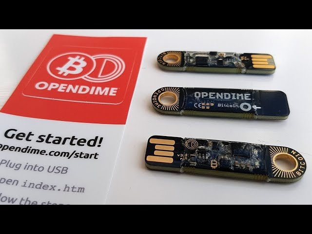 OPENDIME – Bitcoin Wallet  Initial Setup & Breaking The Seal